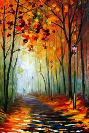 Fog Alley by Leonid Afremov