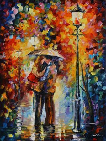 Kiss Under the Rain by Leonid Afremov