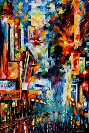 Night Broadway by Leonid Afremov