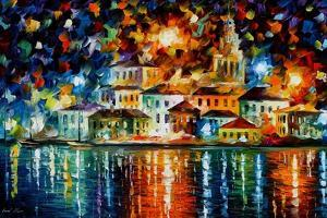 Night Harbour by Leonid Afremov