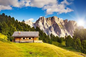 Great View on the Pizes De Cir Ridge, Valley Gardena. National Park Dolomites, South Tyrol. Locatio by Leonid Tit