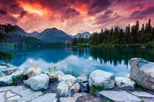 Mountain Lake In National Park High Tatra by Leonid Tit