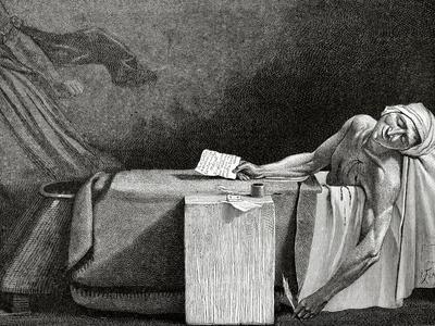 Jean-Paul Marat (1743-1793), Death of Marat