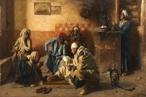 Tric-Trac Players, 1886 by Leopold Karl Muller