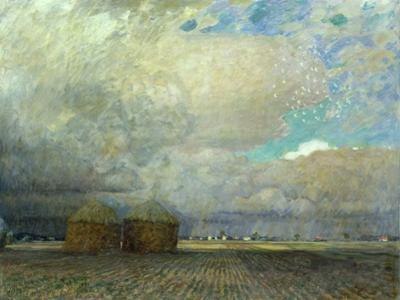 Landscape with Huts, 1900