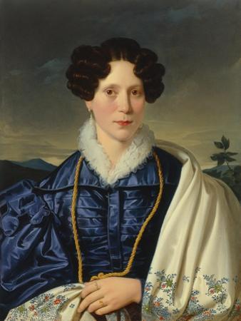 Portrait of a Gentlewoman in a Blue Dress, 1820-30