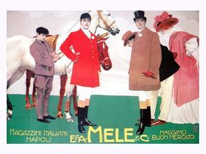 Fashion for the Equestrian Set of Wealthy Patrons by Leopoldo Metlicovitz
