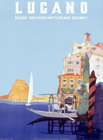 Italian Resort Lugano by Leopoldo Metlicovitz