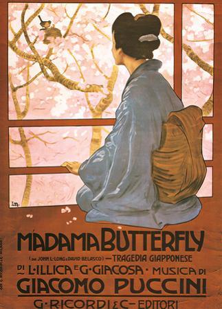 Leopoldo Metlicovitz- Vintage Madama Butterfly (Italain)