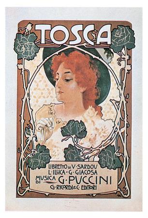 Leopoldo Metlicovitz- Vintage Puccini Tosca (Italian) by Leopoldo Metlicovitz