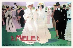 Mele Fashion for the Wealthy at the Races by Leopoldo Metlicovitz