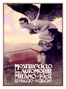 Mostra del Ciclo, Milano, 1907 by Leopoldo Metlicovitz