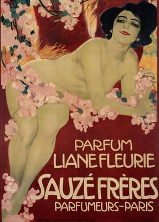 Parfum Liane Fleurie, Sauze Freres by Leopoldo Metlicovitz