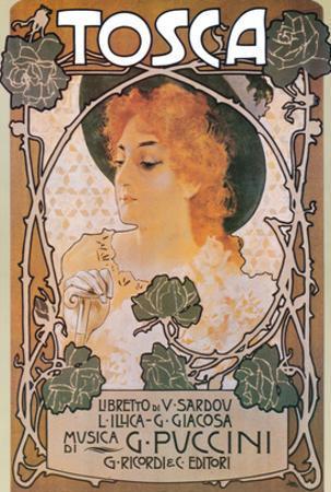 Puccini, Tosca by Leopoldo Metlicovitz