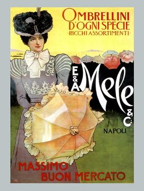 Rich Assortment in Umbrellas from Mele by Leopoldo Metlicovitz