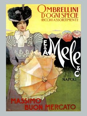 Rich Assortment in Umbrellas from Mele by Leopoldo Metlicovitz
