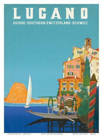 Swiss Italian Resort, Lugano, Switzerland c.1958