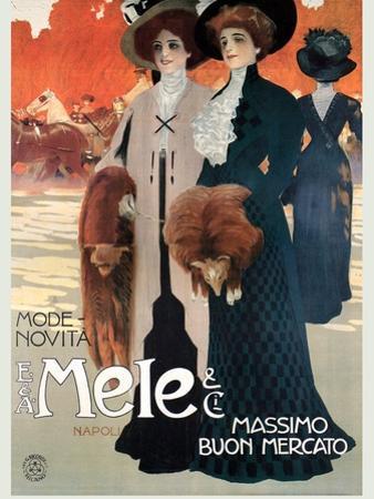 Women in High Fashion Shop at Mele by Leopoldo Metlicovitz