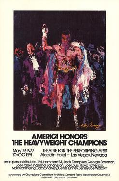 America Honors The Heavyweight Champions by LeRoy Neiman