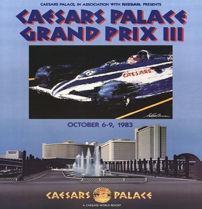 Caesars Palace Grand Prix III by LeRoy Neiman