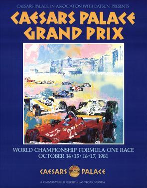 Caesars Palace Grand Prix by LeRoy Neiman