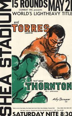 "Jose Torres Vs. ""Irish"" Wayne Thornton by LeRoy Neiman"