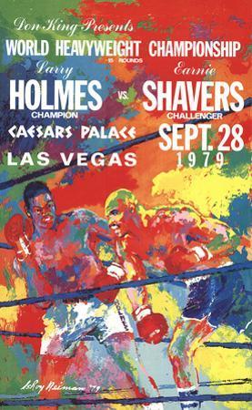 Larry Holmes Vs. Earnie Shavers by LeRoy Neiman