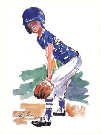 Little Fielder by LeRoy Neiman