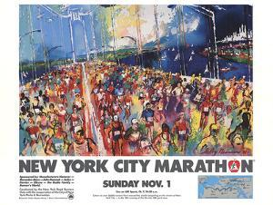 New York City Marathon 1987 by LeRoy Neiman