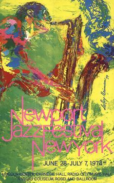 Newport Jazz Festival New York by LeRoy Neiman
