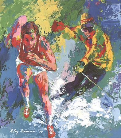 Olympic Skier and Runner by LeRoy Neiman