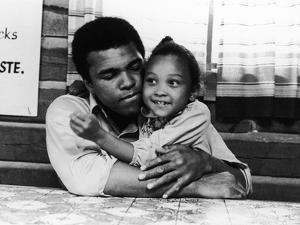 Muhammad Ali,  with His Daughter Maryum, 1974 by Leroy Patton