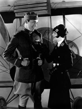 Les Ailes WINGS by WilliamWellman with Richard Arlen and Clara Bow, 1927 (Oscar, 1927) (b/w photo)