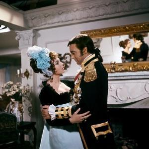 LES AMOURS by LADY HAMILTON, 1968 directed by CHRISTIAN-JAQUE Michele Mercier and Richard Johnson (