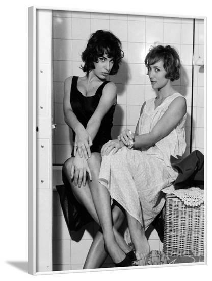 LES BONNES FEMMES (The Good Times Girls) by Claude Chabrol with Bernadette Lafont and Stephane Audr--Framed Photo