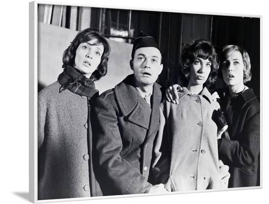 LES BONNES FEMMES (The Good Times Girls) by Claude Chabrol with Stephane Audran, Claude Berry, Bern--Framed Photo