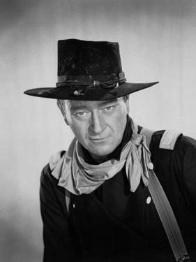 Les Cavaliers THE HORSE SOLDIERS by John Ford with John Wayne, 1959 (b/w photo)