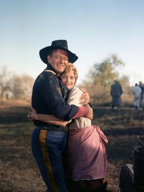 Les Cavaliers THE HORSE SOLDIERS by John Ford with John Wayne and Constance Towers, 1959 (photo)