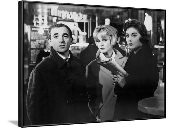 Les Dragueurs by JeanPierreMocky with Charles Aznavour, Margit Saad and Ingeborg Schoner, 1959 (b/w--Framed Photo