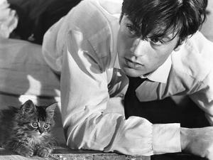 Les Felins Joy House by Rene Clement with Alain Delon, 1964 (b/w photo)