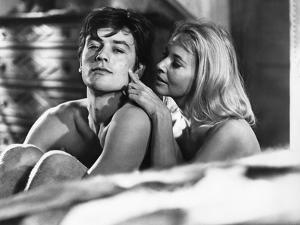 Les Felins Joy House by Rene Clement with Lola Albright, Alain Delon, 1964 (b/w photo)