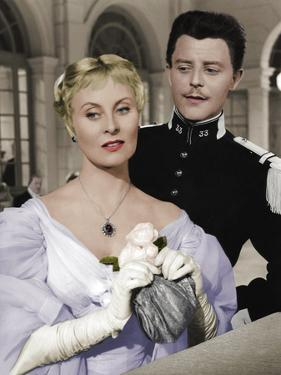 LES GRANDES MANOEUVRES, 1955 directed by RENE CLAIR Michele Morgan / Gerard Philipe (photo)