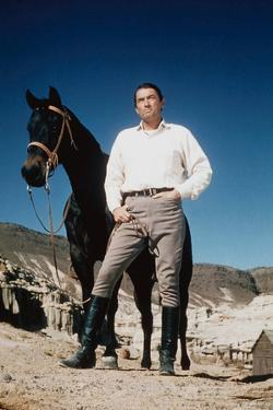 Les Grands Espaces THE BIG COUNTRY by William Wyler with Gregory Peck, 1958 (photo)