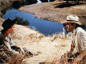 Les Grands Espaces THE BIG COUNTRY by William Wyler with Jean Simmons and Gregory Peck, 1958 (photo