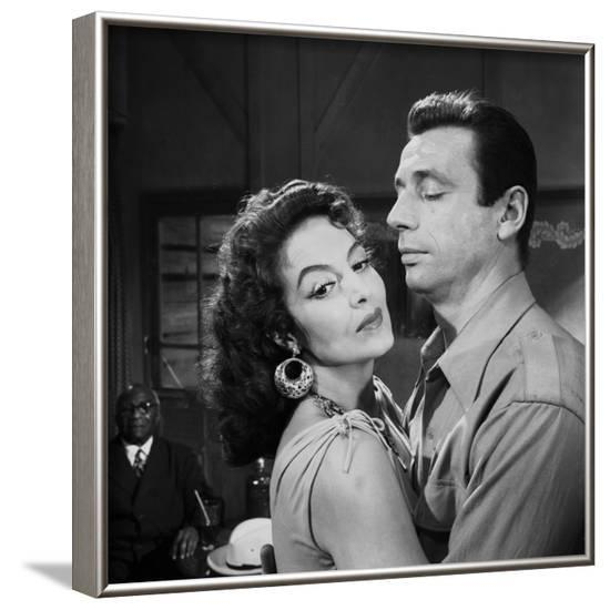 Les Heros sont fatigues The Heroes Are Tired aka Heroes and Sinners by Yves Ciampi with Maria Felix--Framed Photo