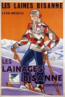 Les Laines Bisanne Wool Company Poster