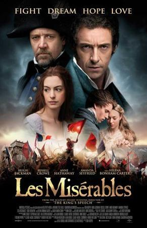 Les Miserables (Hugh Jackman, Russell Crow, Anne Hathaway) Movie Poster