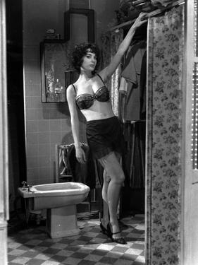 LES MORDUS (The Delinquents) by Rene Jolivet with Bernadette Lafont, 1960 (b/w photo)