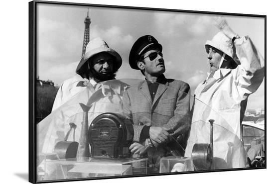 Les pieds nickeles by Jean-Claude Chambon with Michel Galabru, Charles Denner and Jean Rochefort, 1--Framed Photo