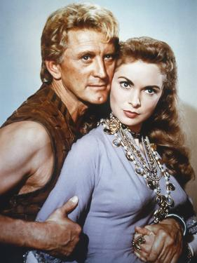 Les Vikings by Richard Fleischer with Kirk Douglas and Janet Leigh en, 1958 (photo)